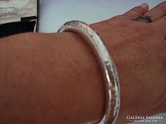 Izraeli kézműves ezüst karkötő