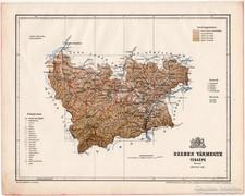 Szeben vármegye térkép 1899, Magyarország atlasz (a), megye