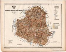 Szolnok - Doboka vármegye térkép 1899, Magyarország atlasz
