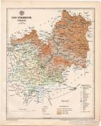 Ung vármegye térkép 1899, Magyarország atlasz (a), megye