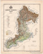 Zemplén vármegye térkép 1899, Magyarország atlasz (a), megye