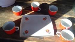 Hollóházi Kávéscsésze Szett
