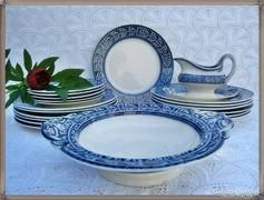 Csodás Brown, Westhead & Moore antik angol étkészlet