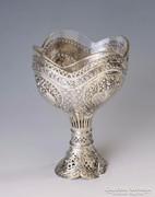 Barokk stílusú ezüst kínáló