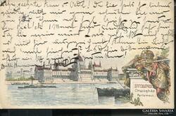 BUDAPEST 1896 MILLENNIUMI DÍJJEGYES LITHO KÉPESLAP