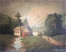 Antik tájkép 1800-as évek