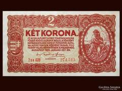 2 KORONÁS - HAJTÁSMENTESEN - 1920