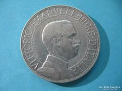 Olaszország Ritka Ezüst 2 Líra 1910
