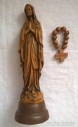 Szűz Mára szobor kis fa úti olvasóval