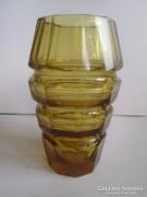 Moser üveg kristály váza borostán szinben hibátlan 20 cm