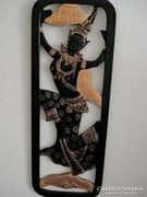 Táncosnő fali fa szobor   50 x 18 cm