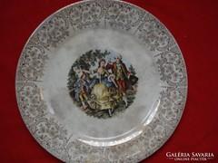 USA barokk porcelán jelenetes   kínáló dísz tál