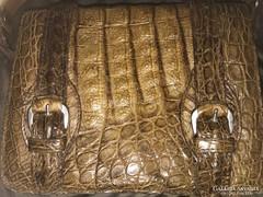 Krokodilbőr antik luxus táska