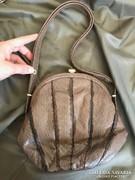 Kígyóbőr gyönyörű antik luxus táska