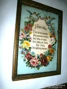 Antik keretezett házi áldás