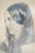 Josef Kriehuber !! 46X60 cm 1850 körüli grafika-litográfia