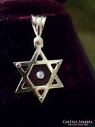 Dávid csillag medál gyémánttal foglalt au585