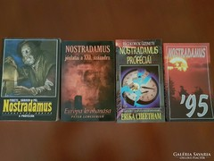 4 db Nostradamus könyv- együtt