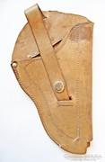 Barna bőr pisztoly táska