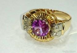 18karátos aranygyűrű és arany fülbevaló 14Karátos