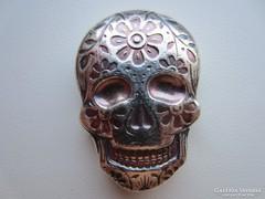 Mexikó Halottak Napja 2 uncia ezüst INGOT koponya 0,999AG