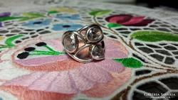 Régi ezüst gyűrű cirkon kővel