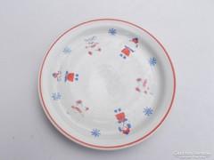Zsolnay porcelán, mese mintás gyerek tányér (AA-01) kopottab