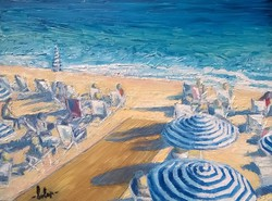 -Nizzai part - Olajfestmény