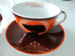Porcelán csokoládés csésze párban