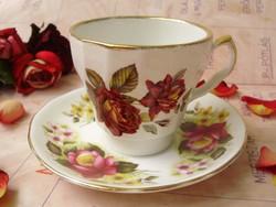 Antik angol Royal Kent Aynsley's rózsás teáscsésze aljal