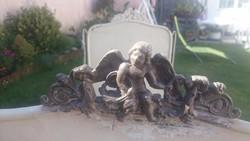 Antik vas gyerekágy keret