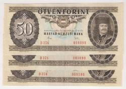 1983. 50 forint 3x S.K. UNC