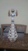 Zsolnay figurális porcelán kiöntő (T,J,M) családi jelzéssel