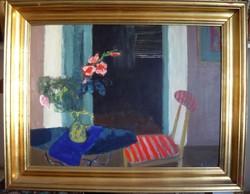 Béres Jenő Csendélet , szép  keretben  1963  Képcsarnok