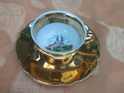 22 k-os arannyal kávéscsésze Linz vára, Bavaria