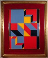 """Orosz Gellért (1919-2002) """"Horizontális sárgával"""""""