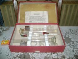 Régi Wagner-féle borfokoló készlet dobozában