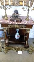 XV. Lajos stílusában készült konzol asztal