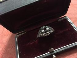 Ezüst gyűrű markazitokkal