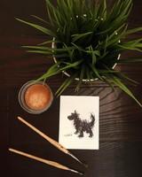 Morzsi kutya tus rajz 9x12cm