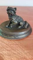 Bronz antik kicsi kutya szobor