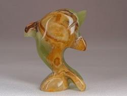 0M868 Kisméretű márvány delfin figura