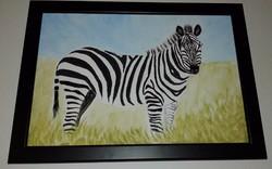 A zebra,