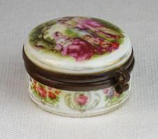0M907 Régi porcelán ékszertartó bonbonier