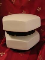 Lámpa hatszög alakú tejüveg búrával (2db.)