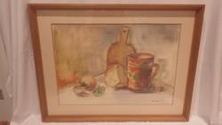Szarka hajnalka akvarell csendélet