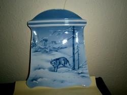 Különleges  Eichwald porcelán fali kép (erdőjelenet)