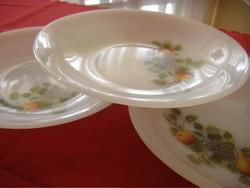 Gyümölcs mintás tejüveg jénai arcopal 3 darabos mély tányér