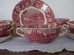 6 db Palissy Medmenham Abbey leveses csésze alátéttel