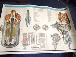 Veterán poszter, plakát retro Zsiguli Lada 2107 VAZ